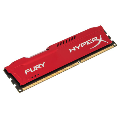 HyperX FURY Red 4GB 1600MHz DDR3 RAM-geheugen - Rood