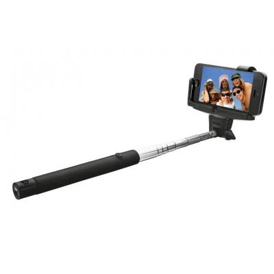 Trust : Wireless Selfie Stick with Bluetooth - Zwart, Zilver