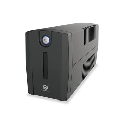 Conceptronic 2 x Schuko, 220-240 V AC, 650 VA, 360 W, Black UPS - Zwart