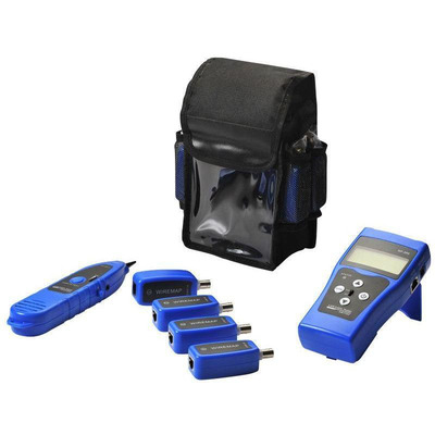 Lanview Network cable tester with 8 x RJ45/BNC probes and tracer Netwerkkabel tester - Zwart,Blauw