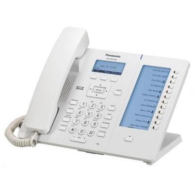 "Panasonic IP telefoon: 6 line, 2xGigabit Ethernet, 5.842 cm (2.3 "") 132 x 64 - Wit"