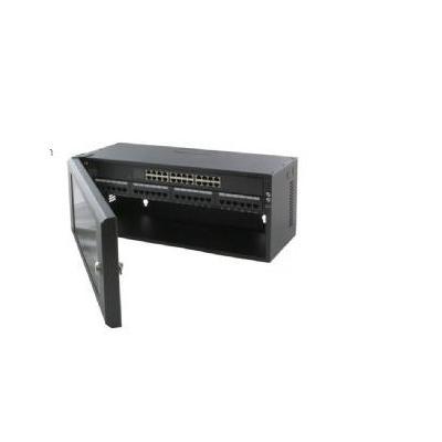 """Gembird rack toebehoren: 48.26 cm (19 """") afsluitbaar patchpanel, 4U hoog - Zwart"""