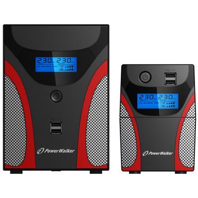 PowerWalker VI 2200 GX UPS - Zwart,Grijs,Rood