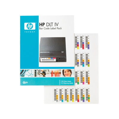 Hewlett packard enterprise barcode label: HP DLT IV Bar Code Label Pack