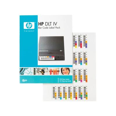 Hewlett Packard Enterprise HP DLT IV Bar Code Label Pack Barcode label