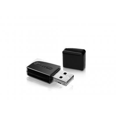Sitecom netwerkkaart: WLA-3100 AC600 Wi-Fi Dual-band USB Adapter - Zwart