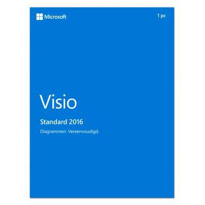 Microsoft software suite: Visio Standard 2016 (Dutch)
