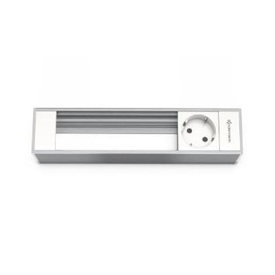 Kindermann Modul Panel for 4 Plates, 1x mains Inbouweenheid - Aluminium, Wit