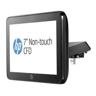 Hp paal display: RP9 geïntegreerd 7-inch NT CFD-display met arm - Zwart
