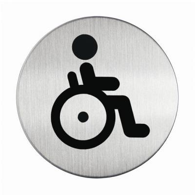 """Durable pictogram: PICTO """"WC invaliden"""", Metaal-Zilver"""