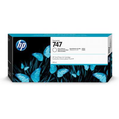 Hp printkop: 747 glansverhogende DesignJet inktcartridge, 300 ml