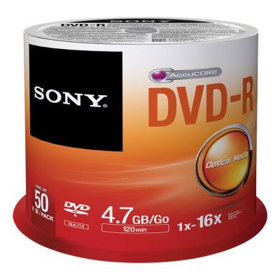 Sony DVD: 16X DVD-R, geleverd in een spindle boxverpakking van 50 stuks. Ideaal voor het snel opnemen en eenvoudig .....