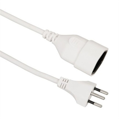 Value 19.99.1183 Electriciteitssnoer - Wit