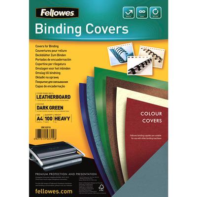 Fellowes Dekbladen leatherlook FSC Binding cover - Groen