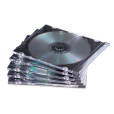 Fellowes 10x Slimline CD doosjes - Zwart, Transparant