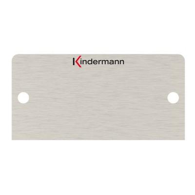Kindermann Faceplate - Roestvrijstaal