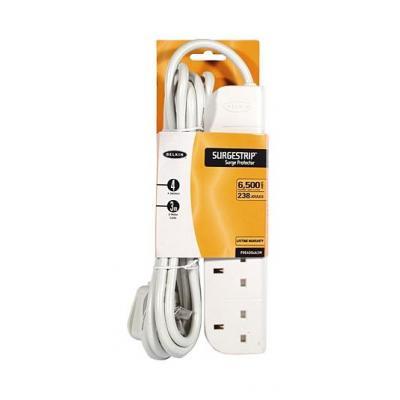 Belkin E-Series 4 Socket, 3-Metre SurgeStrip Surge protector - Wit