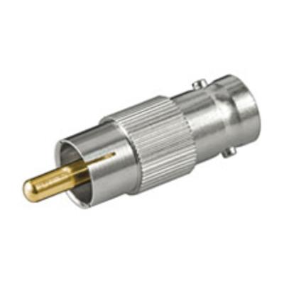 Goobay BNC/RCA Adapter Kabel adapter - Zilver