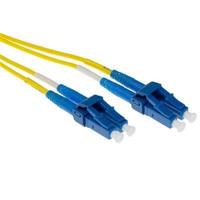 Ewent 2 meter LSZH Singlemode 9/125 OS2 short boot glasvezel patchkabel duplex met LC connectoren Fiber optic .....