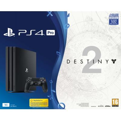 Sony spelcomputer: Special Price - PlayStation 4, Console Pro (Black) + 1 TB + Destiny 2 + That's You Vouchers)  PS4