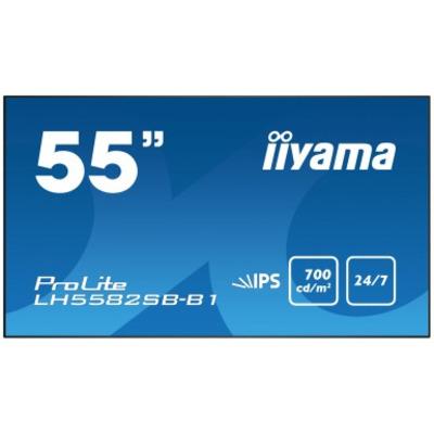 """Iiyama 54.6"""", 1920 x 1080, FullHD, IPS LED, 700 cd/m², B, 217 kWh, 2x HDMI, DisplayPort, VGA, DVI, RS232C, LAN, ....."""