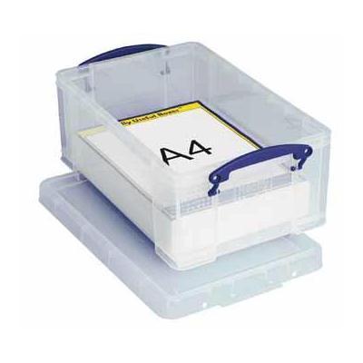 Really useful boxes archiefdoos: Gerecycleerde opbergdoos, 9 l - Transparant