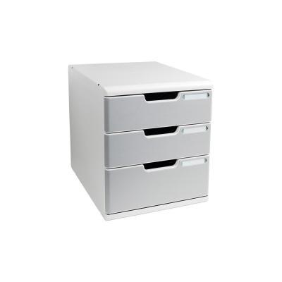 Exacompta brievenbak: MODULO A4 - 3 drawers Classic - Grijs