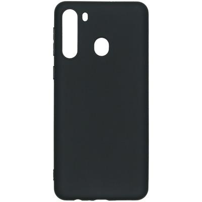Color Backcover Samsung Galaxy A21 - Zwart - Zwart / Black Mobile phone case