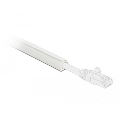 DeLOCK Cable Duct Mini self-closing 10 x 10 mm - length 1 m white Kabel beschermer - Wit