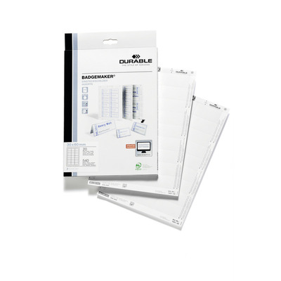 Durable 1451-02 Label - Wit