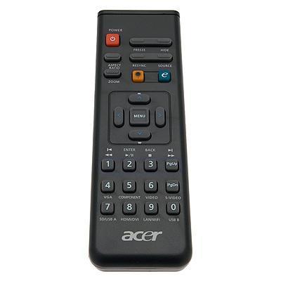 Acer afstandsbediening: Remote Control w/Laser - Zwart