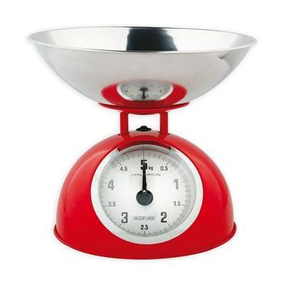 König weegschaal: Retro keukenweegschaal, 5kg - Rood