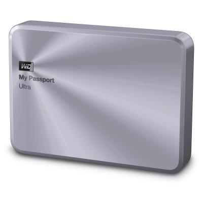 Western digital externe harde schijf: My Passport Ultra Metal Edition, 2TB - Zilver