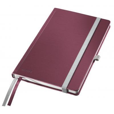 Leitz Premium harde kaft, A5, gelijnd, Met elastiek, penhouder en binnenvakken Schrijfblok - Rood