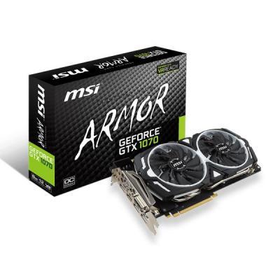 MSI videokaart: GeForce GTX 1070 8GB - Zwart, Wit