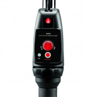 Manfrotto : Zoom Remote Control, 0.9m Cable, 600g, Black/Red - Zwart, Rood