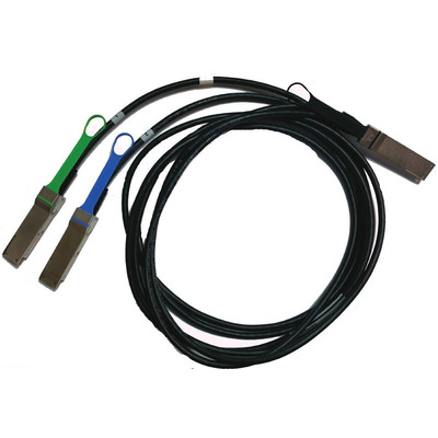 Mellanox Technologies 2 m, 200GbE, 200Gb/s to 2x100Gb/s, QSFP56, 2xQSFP56, 26AWG Fiber optic kabel .....