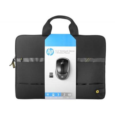 "Hp laptoptas: 15.6"" Wireless Essentials Kit - Zwart, Grijs"