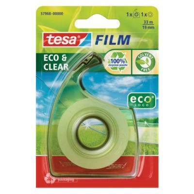 Tesa plakband: 33 m / 19 mm,1 rol + Easy cut dispenser - Transparant