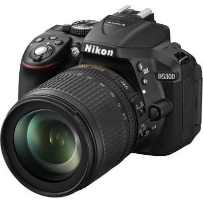 Nikon digitale camera: D5300 + AF-S DX NIKKOR 18-105mm - Zwart