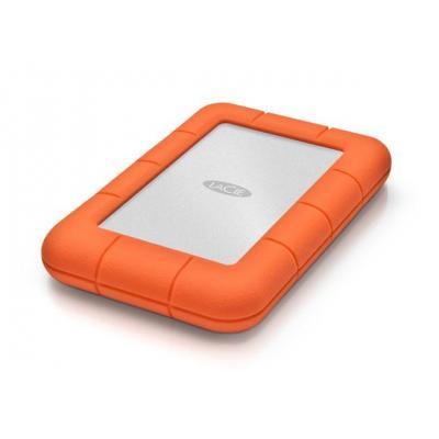 Lacie externe harde schijf: Rugged Mini, 2TB - Aluminium, Oranje