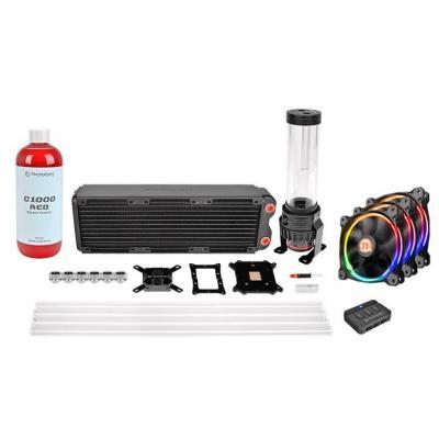 Thermaltake water & freon koeling: Pacific RL360 D5 Hard Tube RGB Water Cooling Kit - Zwart