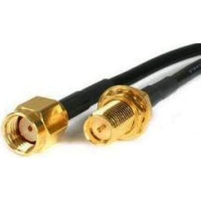 Extreme networks R-SMA to R-BNC, Black Coax kabel - Zwart