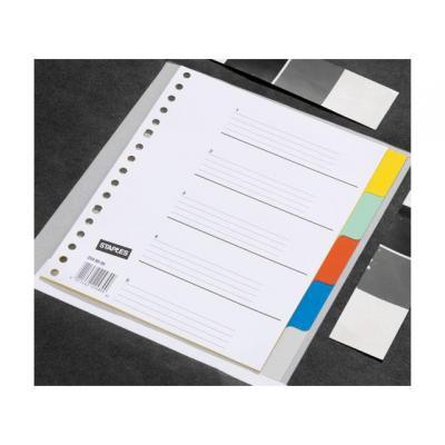Staples schutkaart: Tabblad SPLS A5 17r kleuren pp/set 5