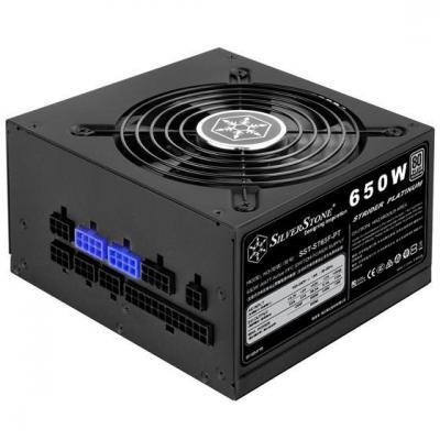 Silverstone 650W, ATX, 90 - 264V, 80 Plus Platinum, 120mm Power supply unit - Zwart