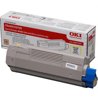 OKI cartridge: Geel toner voor C5650/C5750, 2k