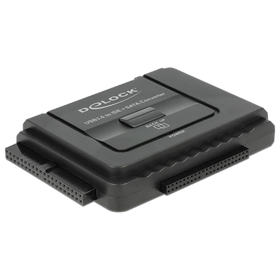 DeLOCK Converter USB 3.0 to SATA 6 Gb/s / IDE 40 pin / IDE 44 Interfaceadapter - Zwart