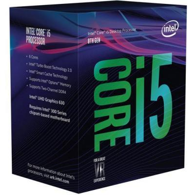 Intel processor: Core Intel® Core™ i5-8400 Processor (9M Cache, up to 4.00 GHz)