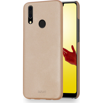 Azuri metallic cover met soft touch coating - goud - voor Huawei P20 Lite Mobile phone case