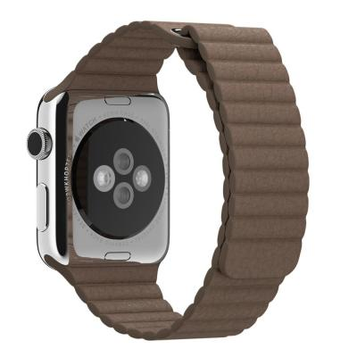 Apple horloge-band: 42mm Light Brown Leather Loop, Large - Bruin